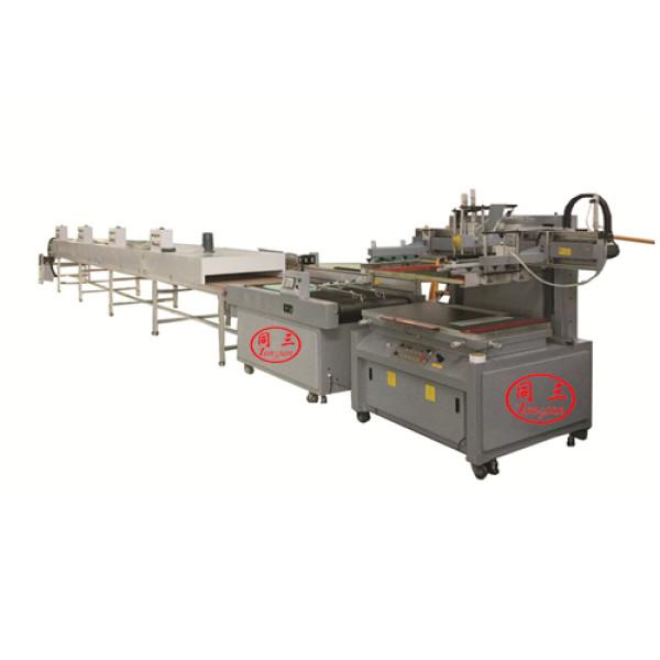 Semiautomatic Flat Silk screen Printing for PP corrugated sheet box panel