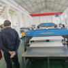 India customer visit Qingdao Tongsan for PP hollow corrugated sheet machine running