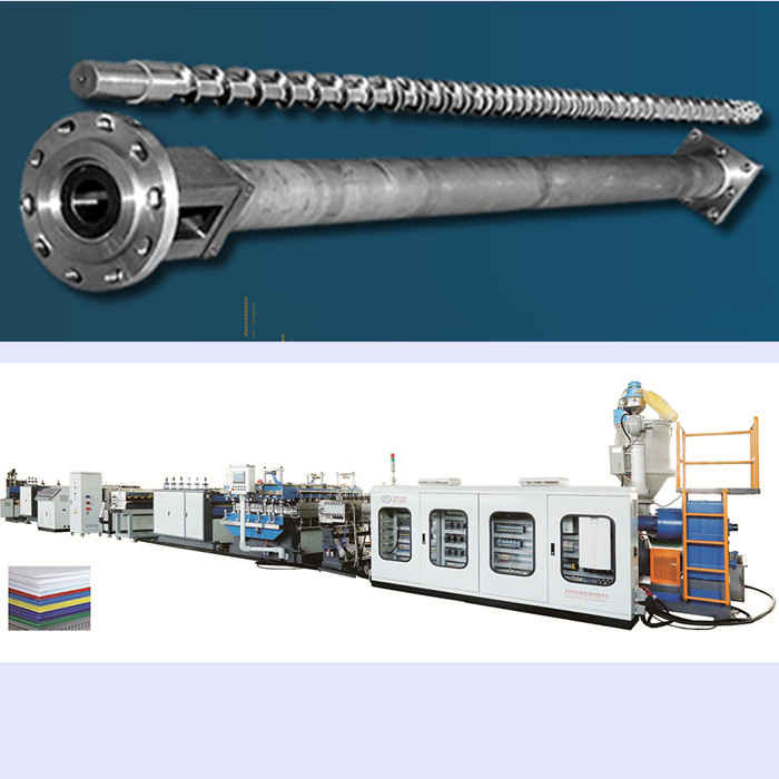 PP hollow corrugated sheet  machine screw and barrel