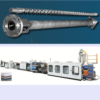 Srew and barrel for PP hollow corrugated sheet making machine