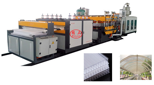 PP hollow corrugated sheet machine machine