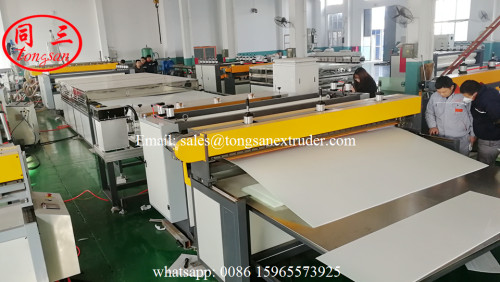 PP hollow corrugated grid sheet extrusion line