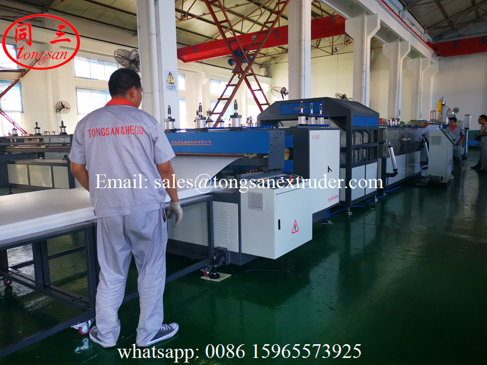 Double wall PP hollow corrugated sheet extrusion line