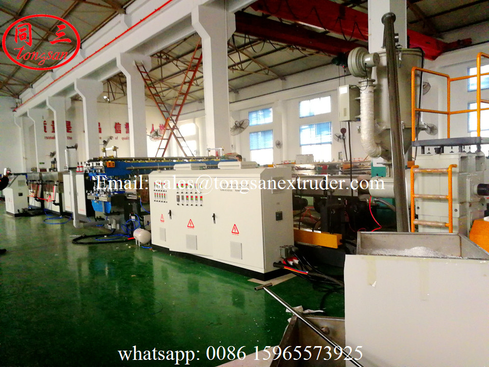 Plastic PP PE PC hollow sheet making machine