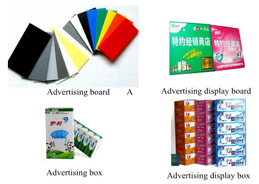 Application of PP Plastic Hollow Corrugated sheet/Plate in Advertising Decoration and Advertising Printing