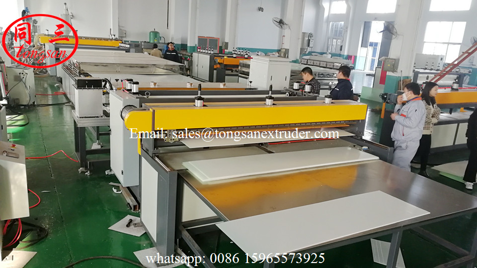 Plastic corrugated sheet machine for making Refrigerator and Washing Machine back sheet