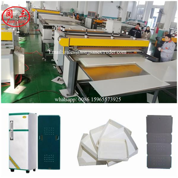 PP Plastic corrugated sheet machine for making Refrigerator and Washing Machine back sheet