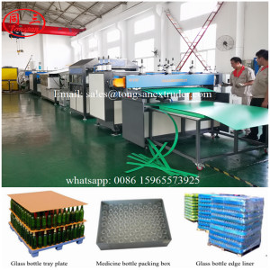 Corrugated PP plastic sheet making machine for produce Packaging of Glass Bottles