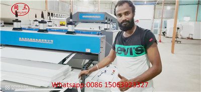 Tongsan PP corrugated sheet machine in customer factory
