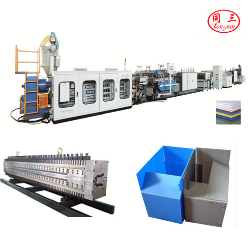 Tongsan PP hollow corrugated sheet machine