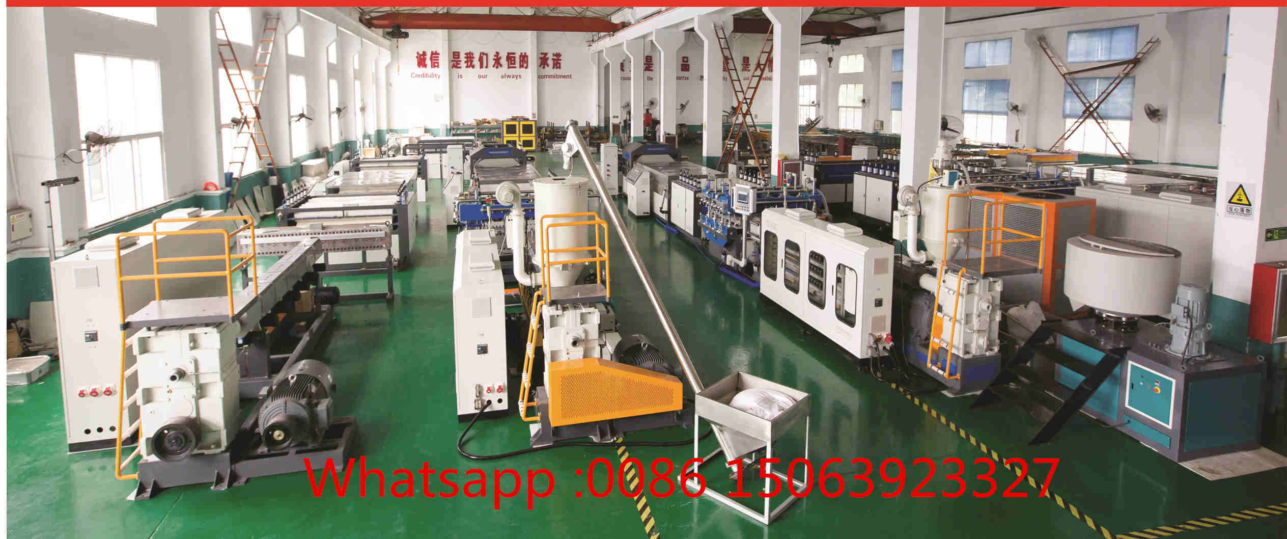 PP hollow corrugated sheet making machine workshop