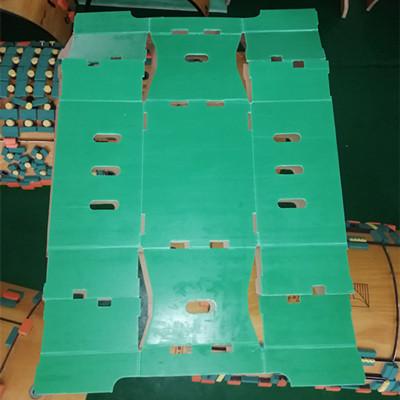 Round die cutting pp hollow sheet box shape cutting machine