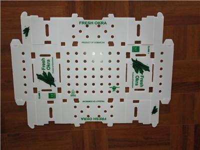 Hollow corrugated box sheet