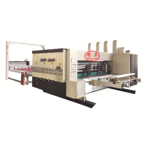 Automatic round  printing and die cutting pp hollow sheet box making machine
