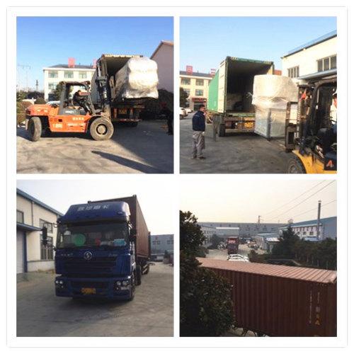 2100mm PP hollow sheet machine loading to Dominija