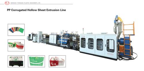 2100mm PP Hollow corrugated box sheet making machine