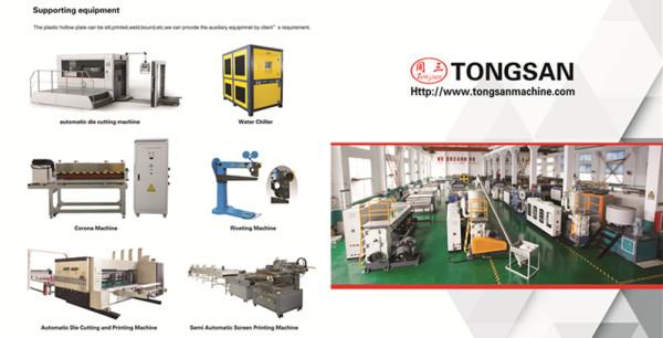 2450mm PP PE PC Hollow corrugated box sheet making machine China Manufacturer Tongsan