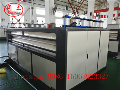 Siz roller haul off device for PP hollow corrugated sheet