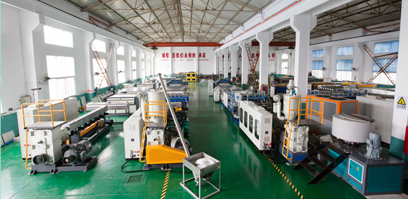 PP PE PC hollow corrugated sheet extruder machine workshop