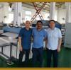 India customer visit Tongsan for PP hollow corrugated sheet making machine