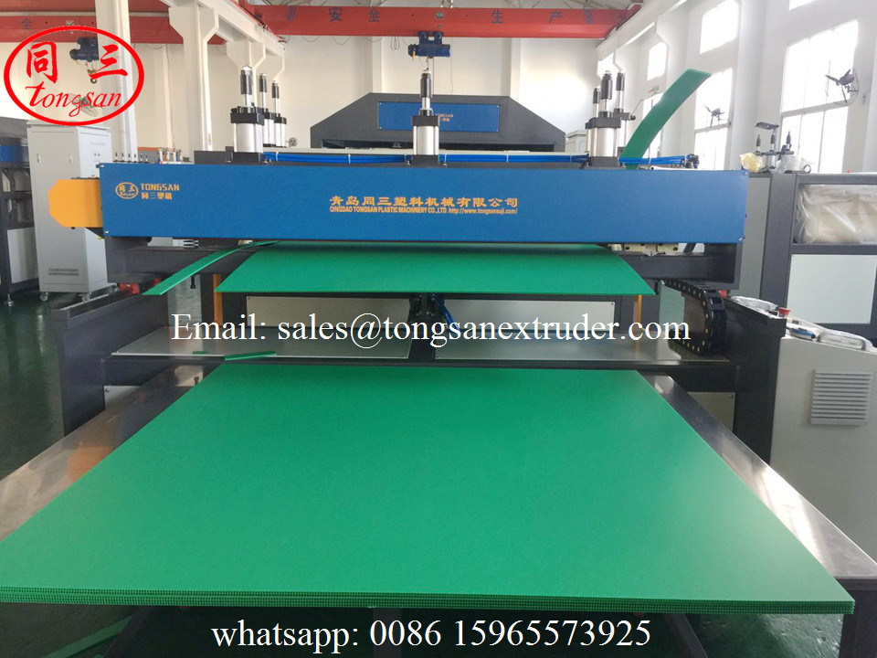PP corrugated sheet production machine line