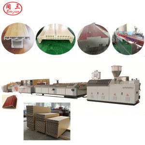PVC/UPVC/WPC wood plastic composite window and door frame profile making machine
