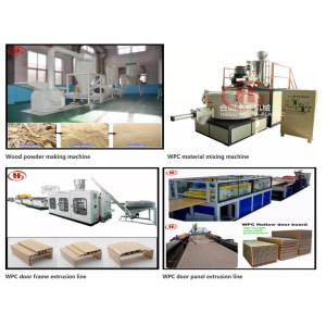 WPC door making processing machines/Wood milling machine /Wood powder dryer /High speed mixer