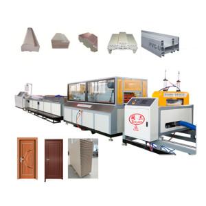 Wood Plastic Composite PVC WPC doors making machine