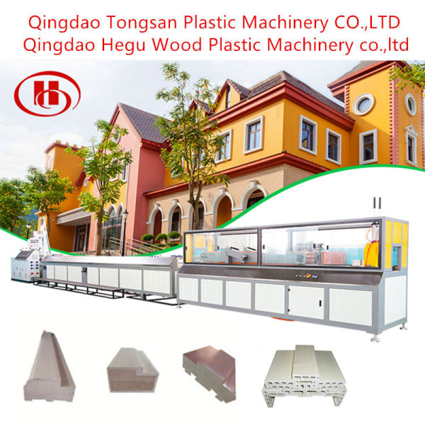 Wood Plastic Composite Extruder WPC Door Frame Making Machine In China