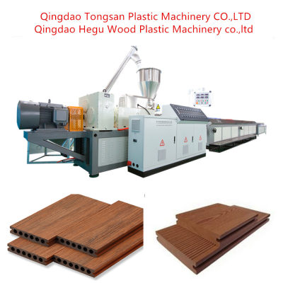 Wastage Wood Plastic Composite WPC Decking Extrusion Line Machine / PP PE WPC Decking Profile Making Machine (SJMS65/132)