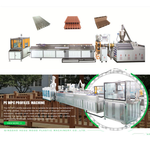 Wood Plastic Composite Extruder PP PE WPC Decking Fence Post Making Machine Manufacturer