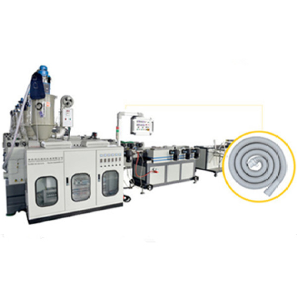 4.5-160mm plastic single wall corrugated pipe making machine