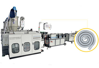 PE PP EVA PVC PA High Speed Single Wall Corrugated Pipe Extrusion Line / Single Wall Pipe Macking Machine From Qingdao Tongsan