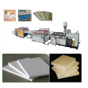 3-20mm PVC WPC Foam Board Making Machine / Wood Plastic Composite Board Production Line