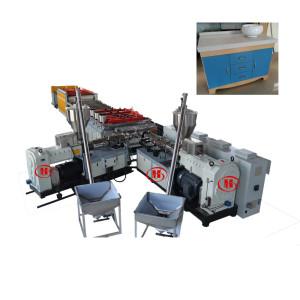 PVC WPC Foam Board Co-extruder Making Machine / Wood Plastic Composite  Celuka Plate Production Line