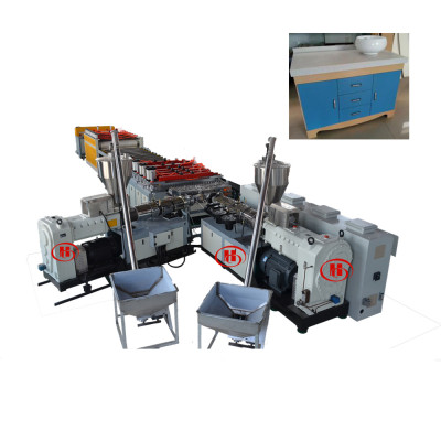 PVC WPC Foam Board Co-extruder Making Machine / Wood Plastic Composite  Celuka Plate Production Line