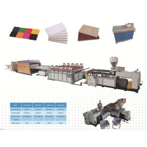 WPC Celluka Foam 3-40mm WPC Solid Door Board Manufacturing Machine / PVC Foam Board Co-extruder Making Machine / Wood Plastic Composite  Celuka Plate Production Line
