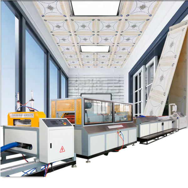 Plastic ceiling board making machine /pvc ceiling panel extruder making machine