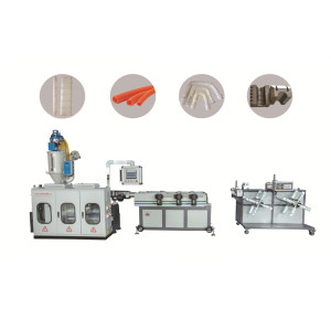 9mm-32mm PP PE PA PVC plastic corrugated pipe making machine/ Single wall corrugated pipe extruder machine