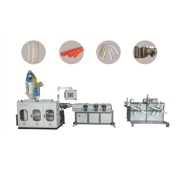 12mm-50mm PP PE PA PVC plastic corrugated pipe making machine/ Single wall corrugated pipe extruder machine
