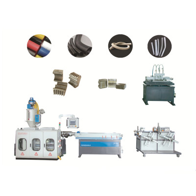 PE PP EVA PVC PA High Speed Single Wall Corrugated Pipe Extrusion Line / Single Wall Pipe Macking Machine From Qingdao Tongsan
