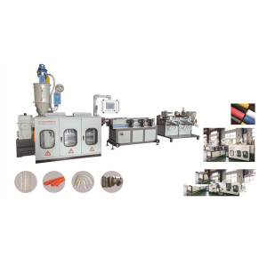 SJ45 LLDPE shisha pipe making machine /spiral corrugated pipe machine manufacturer