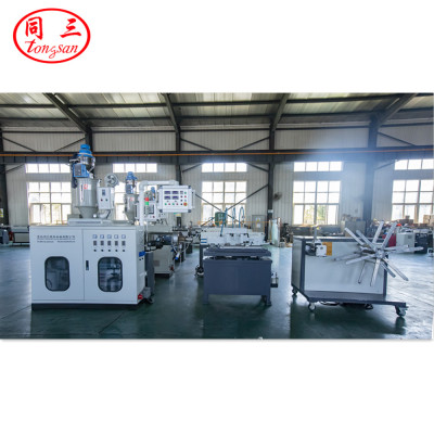 5mm-13mm High Speedf PE PP EVA PVC PA High Speed Single Wall Corrugated Pipe Extrusion Line / Single Wall Pipe Macking Machine From Qingdao Tongsan