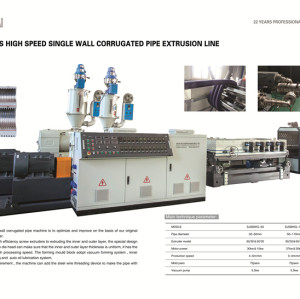 40-250mm Hot Sale HDPE DWC Corrugated Pipe Machine / Double Wall Corrugated Pipe Extrusion Line