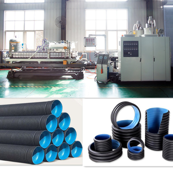 HDPE DWC Corrugated Pipe Machine / Double Wall Corrugated Pipe Extrusion Line