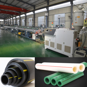 75-250mm SJ75  HDPE PP PPR Plastic pipe extruder making machine