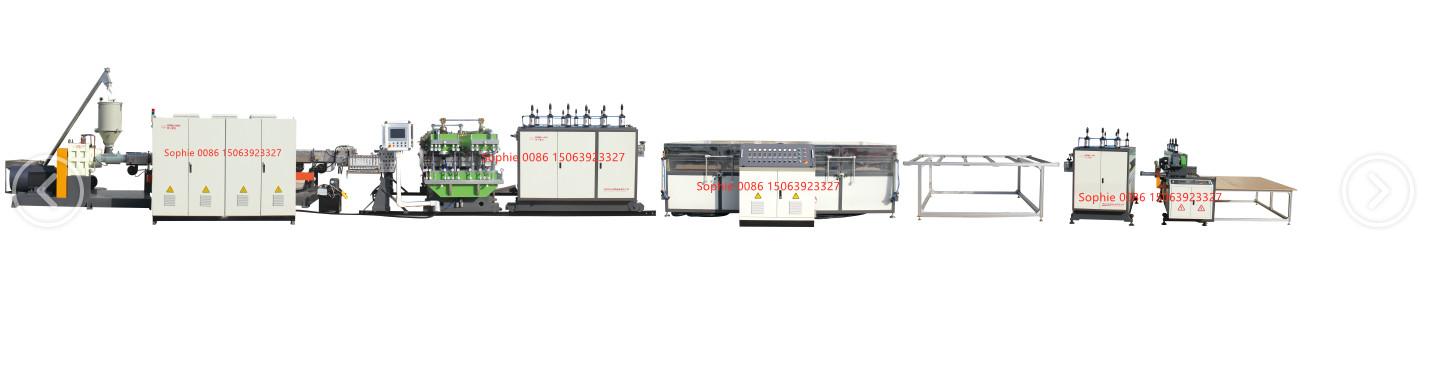 PP hollow corrugated sheet making machine