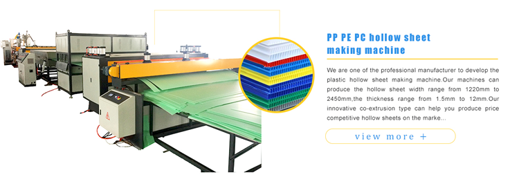 PP hollow corrugated sheet machine