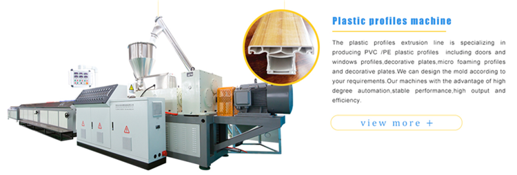 PVC window profiles making machine