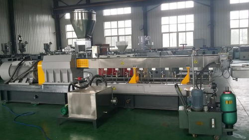 SHJ70 parallel double screw extruder PP filling masterbatch making machine